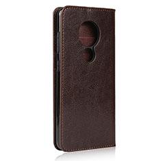 Coque Portefeuille Livre Cuir Etui Clapet L01 pour Nokia 7.2 Marron