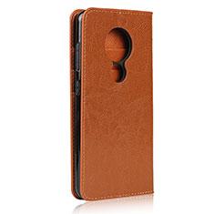 Coque Portefeuille Livre Cuir Etui Clapet L01 pour Nokia 7.2 Orange