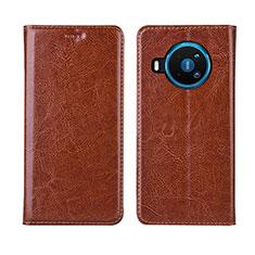 Coque Portefeuille Livre Cuir Etui Clapet L01 pour Nokia 8.3 5G Orange