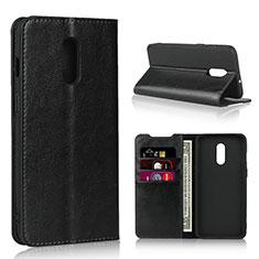 Coque Portefeuille Livre Cuir Etui Clapet L01 pour OnePlus 7 Noir