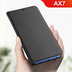 Coque Portefeuille Livre Cuir Etui Clapet L01 pour Oppo AX7 Noir