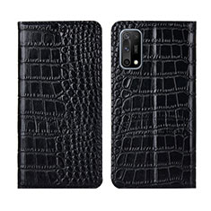 Coque Portefeuille Livre Cuir Etui Clapet L01 pour Oppo K7x 5G Noir