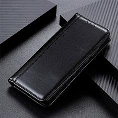 Coque Portefeuille Livre Cuir Etui Clapet L01 pour Oppo Reno3 A Noir