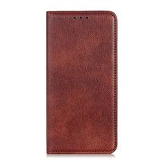 Coque Portefeuille Livre Cuir Etui Clapet L01 pour Oppo Reno4 4G Marron