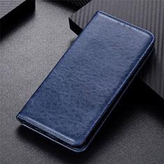 Coque Portefeuille Livre Cuir Etui Clapet L01 pour Oppo Reno4 F Bleu