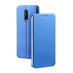 Coque Portefeuille Livre Cuir Etui Clapet L01 pour Oppo RX17 Pro Bleu