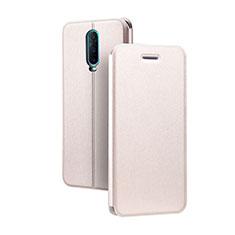 Coque Portefeuille Livre Cuir Etui Clapet L01 pour Oppo RX17 Pro Or Rose