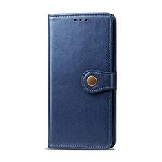 Coque Portefeuille Livre Cuir Etui Clapet L01 pour Realme 5i Bleu