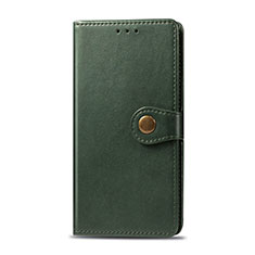 Coque Portefeuille Livre Cuir Etui Clapet L01 pour Realme 5i Vert