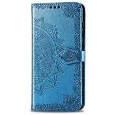 Coque Portefeuille Livre Cuir Etui Clapet L01 pour Realme 6i Bleu