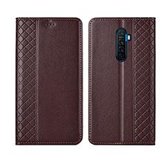 Coque Portefeuille Livre Cuir Etui Clapet L01 pour Realme X2 Pro Marron