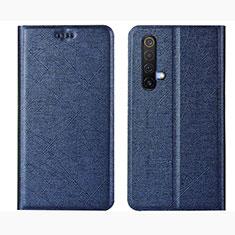 Coque Portefeuille Livre Cuir Etui Clapet L01 pour Realme X3 SuperZoom Bleu