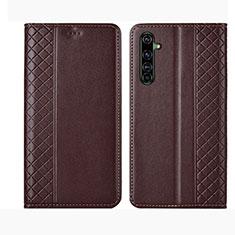 Coque Portefeuille Livre Cuir Etui Clapet L01 pour Realme X50 Pro 5G Marron