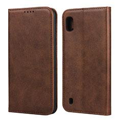 Coque Portefeuille Livre Cuir Etui Clapet L01 pour Samsung Galaxy A10 Marron