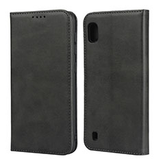 Coque Portefeuille Livre Cuir Etui Clapet L01 pour Samsung Galaxy A10 Noir