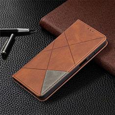 Coque Portefeuille Livre Cuir Etui Clapet L01 pour Samsung Galaxy A12 Marron