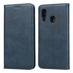 Coque Portefeuille Livre Cuir Etui Clapet L01 pour Samsung Galaxy A20e Bleu