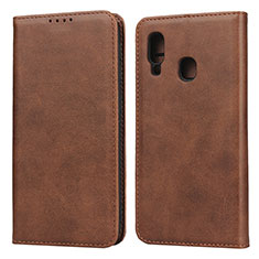Coque Portefeuille Livre Cuir Etui Clapet L01 pour Samsung Galaxy A20e Marron