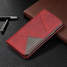 Coque Portefeuille Livre Cuir Etui Clapet L01 pour Samsung Galaxy A31 Rouge