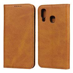 Coque Portefeuille Livre Cuir Etui Clapet L01 pour Samsung Galaxy A40 Orange