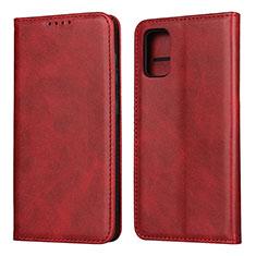 Coque Portefeuille Livre Cuir Etui Clapet L01 pour Samsung Galaxy A41 Rouge