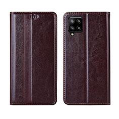 Coque Portefeuille Livre Cuir Etui Clapet L01 pour Samsung Galaxy A42 5G Marron