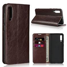 Coque Portefeuille Livre Cuir Etui Clapet L01 pour Samsung Galaxy A50 Marron