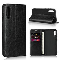Coque Portefeuille Livre Cuir Etui Clapet L01 pour Samsung Galaxy A50 Noir