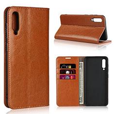 Coque Portefeuille Livre Cuir Etui Clapet L01 pour Samsung Galaxy A50 Orange