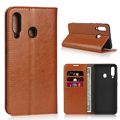Coque Portefeuille Livre Cuir Etui Clapet L01 pour Samsung Galaxy A60 Orange