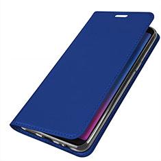 Coque Portefeuille Livre Cuir Etui Clapet L01 pour Samsung Galaxy A6s Bleu