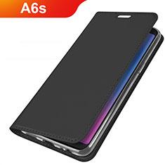 Coque Portefeuille Livre Cuir Etui Clapet L01 pour Samsung Galaxy A6s Noir