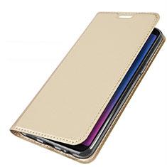 Coque Portefeuille Livre Cuir Etui Clapet L01 pour Samsung Galaxy A6s Or