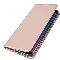 Coque Portefeuille Livre Cuir Etui Clapet L01 pour Samsung Galaxy A6s Or Rose