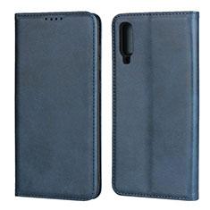 Coque Portefeuille Livre Cuir Etui Clapet L01 pour Samsung Galaxy A70 Bleu