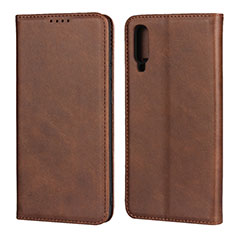Coque Portefeuille Livre Cuir Etui Clapet L01 pour Samsung Galaxy A70 Marron