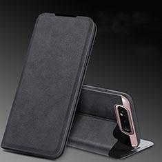 Coque Portefeuille Livre Cuir Etui Clapet L01 pour Samsung Galaxy A80 Noir