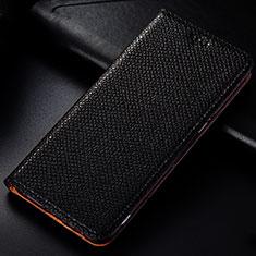 Coque Portefeuille Livre Cuir Etui Clapet L01 pour Samsung Galaxy A81 Noir