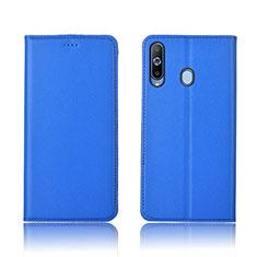Coque Portefeuille Livre Cuir Etui Clapet L01 pour Samsung Galaxy A8s SM-G8870 Bleu