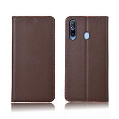 Coque Portefeuille Livre Cuir Etui Clapet L01 pour Samsung Galaxy A8s SM-G8870 Marron