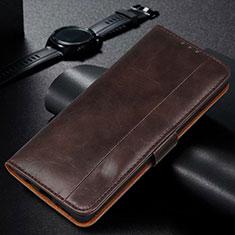 Coque Portefeuille Livre Cuir Etui Clapet L01 pour Samsung Galaxy M21 Marron
