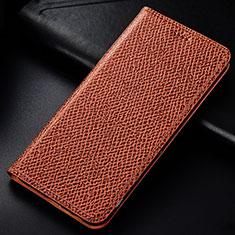 Coque Portefeuille Livre Cuir Etui Clapet L01 pour Samsung Galaxy M60s Marron