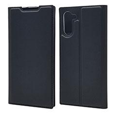 Coque Portefeuille Livre Cuir Etui Clapet L01 pour Samsung Galaxy Note 10 Noir