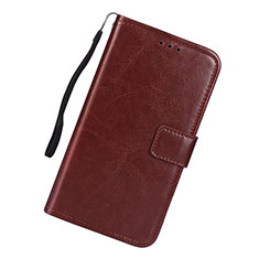 Coque Portefeuille Livre Cuir Etui Clapet L01 pour Samsung Galaxy S10 Lite Marron