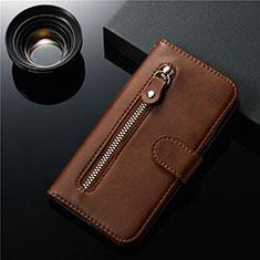 Coque Portefeuille Livre Cuir Etui Clapet L01 pour Samsung Galaxy S20 5G Marron
