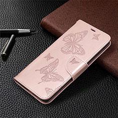 Coque Portefeuille Livre Cuir Etui Clapet L01 pour Samsung Galaxy S20 FE 5G Or Rose