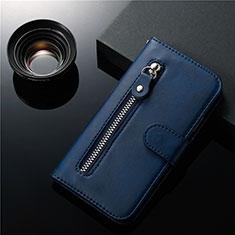Coque Portefeuille Livre Cuir Etui Clapet L01 pour Samsung Galaxy S20 Plus 5G Bleu