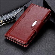 Coque Portefeuille Livre Cuir Etui Clapet L01 pour Samsung Galaxy S21 5G Marron