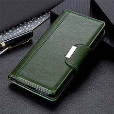 Coque Portefeuille Livre Cuir Etui Clapet L01 pour Samsung Galaxy S21 Ultra 5G Vert