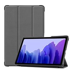 Coque Portefeuille Livre Cuir Etui Clapet L01 pour Samsung Galaxy Tab A7 4G 10.4 SM-T505 Gris